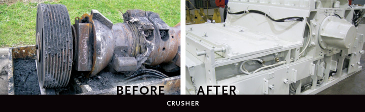 Crusher: before and after rebuild