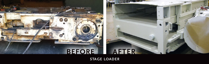 Stage loader: before and after rebuild