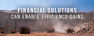 Financial solutions can enable efficiency gains