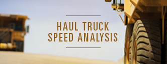Haul truck speed analysis